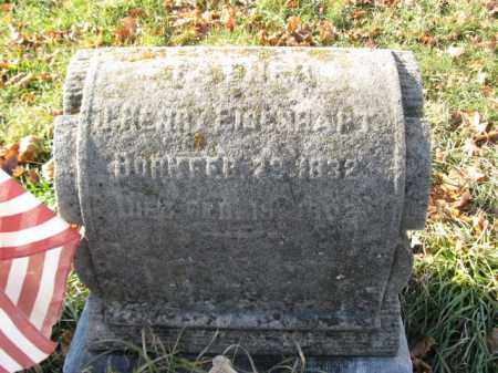 EISENHART, PVT. J. HENRY - Lehigh County, Pennsylvania | PVT. J. HENRY EISENHART - Pennsylvania Gravestone Photos