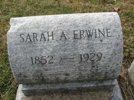 ERWINE, SARAH A. - Lehigh County, Pennsylvania | SARAH A. ERWINE - Pennsylvania Gravestone Photos