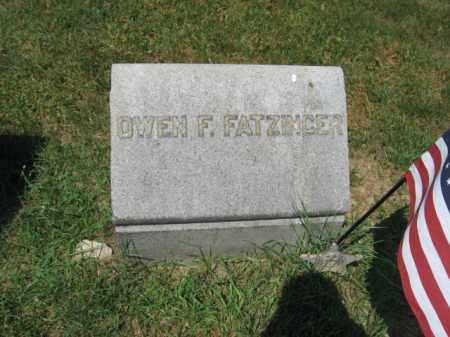 FATZINGER (CW), OWEN F. - Lehigh County, Pennsylvania | OWEN F. FATZINGER (CW) - Pennsylvania Gravestone Photos