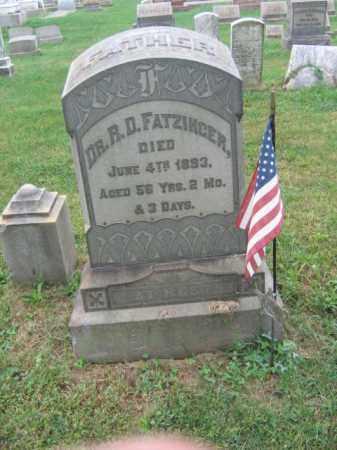 FATZINGER, DR.R.D. - Lehigh County, Pennsylvania   DR.R.D. FATZINGER - Pennsylvania Gravestone Photos