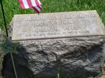 FATZINGER, FRANKLIN G.W. - Lehigh County, Pennsylvania | FRANKLIN G.W. FATZINGER - Pennsylvania Gravestone Photos