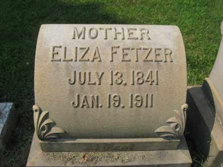 FETZER, ELIZA - Lehigh County, Pennsylvania | ELIZA FETZER - Pennsylvania Gravestone Photos