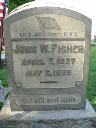 FISHER, JOHN W. - Lehigh County, Pennsylvania   JOHN W. FISHER - Pennsylvania Gravestone Photos