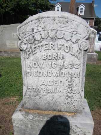 FOLK, PETER - Lehigh County, Pennsylvania | PETER FOLK - Pennsylvania Gravestone Photos