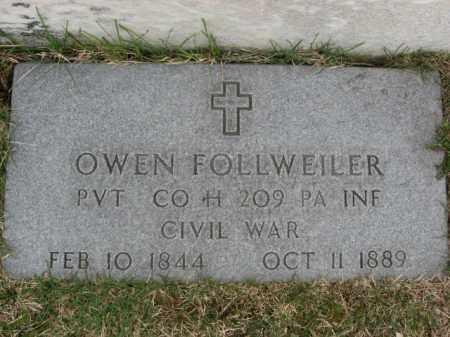 FOLLWEILER (CW), OWEN - Lehigh County, Pennsylvania | OWEN FOLLWEILER (CW) - Pennsylvania Gravestone Photos