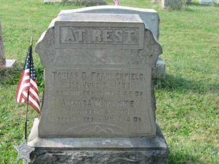 FRANKENFIELD, TOBIAS G. - Lehigh County, Pennsylvania   TOBIAS G. FRANKENFIELD - Pennsylvania Gravestone Photos