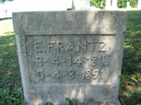 FRANTZ, E. - Lehigh County, Pennsylvania   E. FRANTZ - Pennsylvania Gravestone Photos