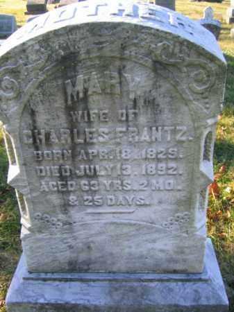 FRANTZ, MARY - Lehigh County, Pennsylvania | MARY FRANTZ - Pennsylvania Gravestone Photos