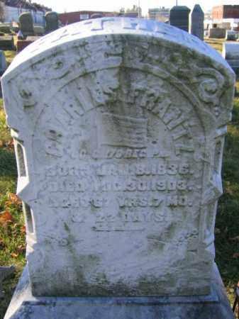 FRANTZ, PVT. CHARLES - Lehigh County, Pennsylvania | PVT. CHARLES FRANTZ - Pennsylvania Gravestone Photos