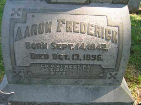 FREDERICK, AARON - Lehigh County, Pennsylvania | AARON FREDERICK - Pennsylvania Gravestone Photos