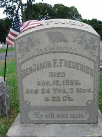 FREDERICK, BENJAMIN F. - Lehigh County, Pennsylvania   BENJAMIN F. FREDERICK - Pennsylvania Gravestone Photos