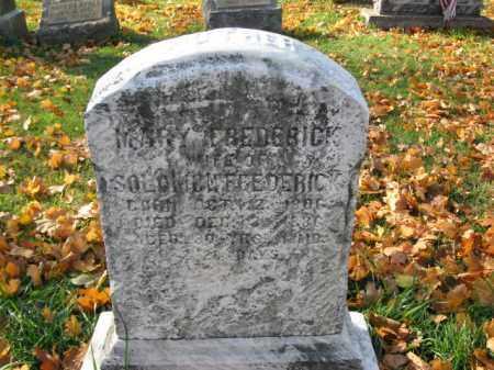 FREDERICK, MARY - Lehigh County, Pennsylvania | MARY FREDERICK - Pennsylvania Gravestone Photos
