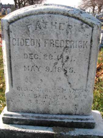 FREDERICK, PVT.GIDEON - Lehigh County, Pennsylvania | PVT.GIDEON FREDERICK - Pennsylvania Gravestone Photos