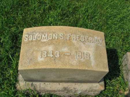 FREDERICK, SOLOMON S. - Lehigh County, Pennsylvania   SOLOMON S. FREDERICK - Pennsylvania Gravestone Photos