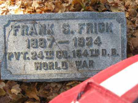 FRICK, FRANK S. - Lehigh County, Pennsylvania   FRANK S. FRICK - Pennsylvania Gravestone Photos
