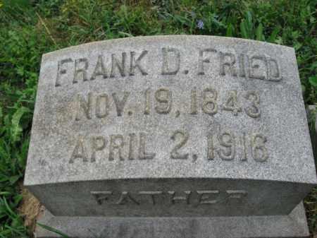 FRIED, FRANK D. - Lehigh County, Pennsylvania   FRANK D. FRIED - Pennsylvania Gravestone Photos