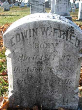 FRIED, PVT. EDWIN W. - Lehigh County, Pennsylvania | PVT. EDWIN W. FRIED - Pennsylvania Gravestone Photos