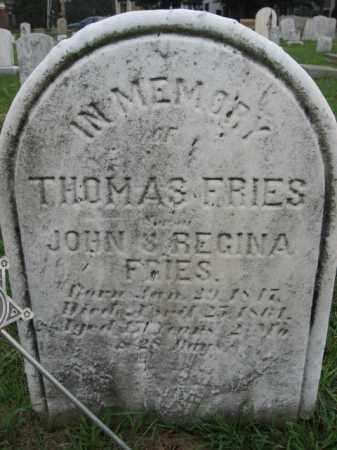 FRIES, THOMAS - Lehigh County, Pennsylvania   THOMAS FRIES - Pennsylvania Gravestone Photos