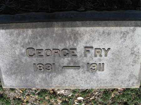 FRY, GEORGE - Lehigh County, Pennsylvania   GEORGE FRY - Pennsylvania Gravestone Photos