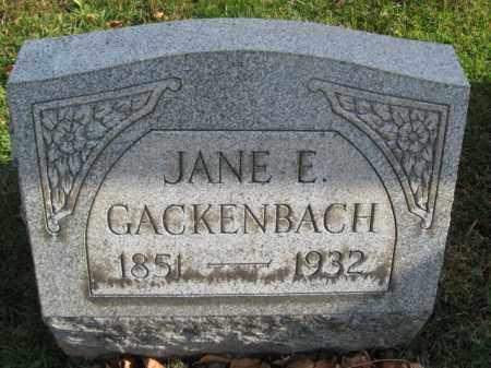 GACKENBACH, JANE E, - Lehigh County, Pennsylvania   JANE E, GACKENBACH - Pennsylvania Gravestone Photos