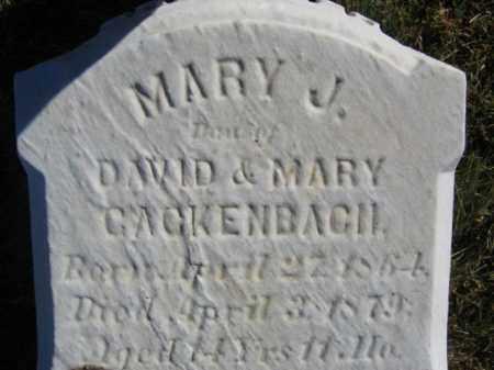 GACKENBACH, MARY J. - Lehigh County, Pennsylvania | MARY J. GACKENBACH - Pennsylvania Gravestone Photos