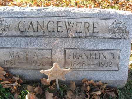 GANGEWERE, PVT. FRANKLIN B. - Lehigh County, Pennsylvania | PVT. FRANKLIN B. GANGEWERE - Pennsylvania Gravestone Photos