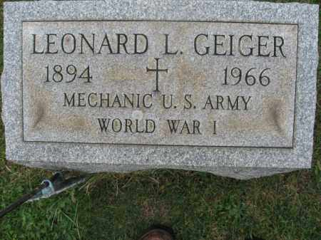 GEIGER, LEONARD L. - Lehigh County, Pennsylvania   LEONARD L. GEIGER - Pennsylvania Gravestone Photos