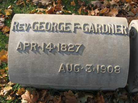 GERDNER, REV. GEORGE F. - Lehigh County, Pennsylvania   REV. GEORGE F. GERDNER - Pennsylvania Gravestone Photos