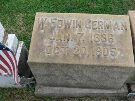 GERMAN, W. EDWIN - Lehigh County, Pennsylvania   W. EDWIN GERMAN - Pennsylvania Gravestone Photos