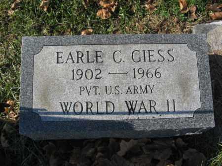 GIESS, EARLE C. - Lehigh County, Pennsylvania   EARLE C. GIESS - Pennsylvania Gravestone Photos