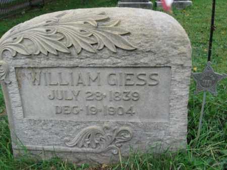 GIESS, WILLAIM - Lehigh County, Pennsylvania   WILLAIM GIESS - Pennsylvania Gravestone Photos