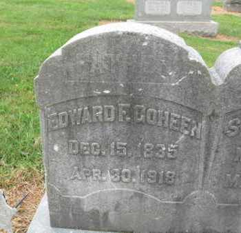 GOHEEN (CW), EDWARD F. - Lehigh County, Pennsylvania | EDWARD F. GOHEEN (CW) - Pennsylvania Gravestone Photos