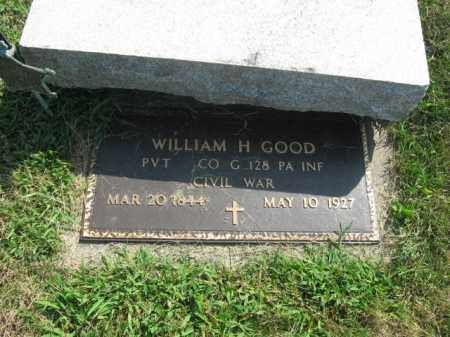 GOOD, WILLIAM H. - Lehigh County, Pennsylvania | WILLIAM H. GOOD - Pennsylvania Gravestone Photos
