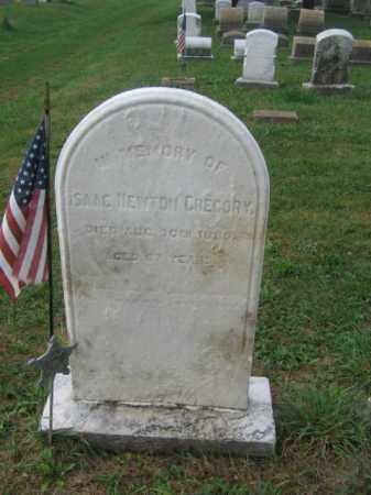 GREGORY, ISAAC NEWTON - Lehigh County, Pennsylvania   ISAAC NEWTON GREGORY - Pennsylvania Gravestone Photos