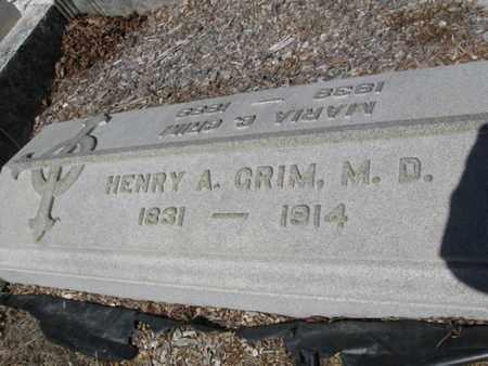 GRIM (CW), HENRY A. - Lehigh County, Pennsylvania | HENRY A. GRIM (CW) - Pennsylvania Gravestone Photos