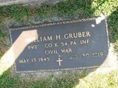 GRUBER (CW), WILLIAM H. - Lehigh County, Pennsylvania | WILLIAM H. GRUBER (CW) - Pennsylvania Gravestone Photos