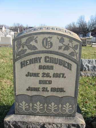 GRUBER, HENRY - Lehigh County, Pennsylvania | HENRY GRUBER - Pennsylvania Gravestone Photos