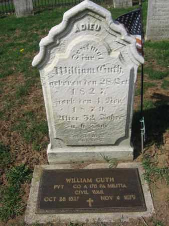 GUTH  (CW), PVT. WILLIAM - Lehigh County, Pennsylvania | PVT. WILLIAM GUTH  (CW) - Pennsylvania Gravestone Photos