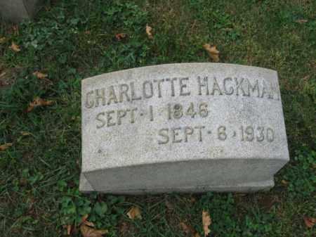 HACKMAN, CHARLOTTE - Lehigh County, Pennsylvania | CHARLOTTE HACKMAN - Pennsylvania Gravestone Photos