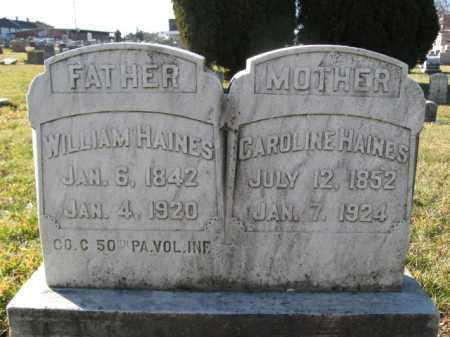 HAINES, CAROLINE - Lehigh County, Pennsylvania | CAROLINE HAINES - Pennsylvania Gravestone Photos