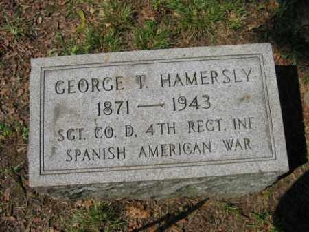 HAMERSLY, GEORGE T. - Lehigh County, Pennsylvania | GEORGE T. HAMERSLY - Pennsylvania Gravestone Photos