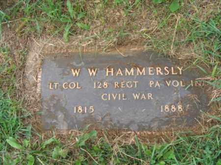 HAMMERSLY, LT.COL. W.W. - Lehigh County, Pennsylvania   LT.COL. W.W. HAMMERSLY - Pennsylvania Gravestone Photos