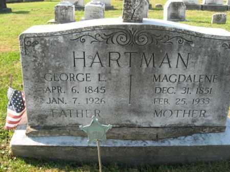 HARTMAN, GEORGE L. - Lehigh County, Pennsylvania | GEORGE L. HARTMAN - Pennsylvania Gravestone Photos
