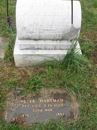 HARTMAN, PVT.PETER - Lehigh County, Pennsylvania | PVT.PETER HARTMAN - Pennsylvania Gravestone Photos