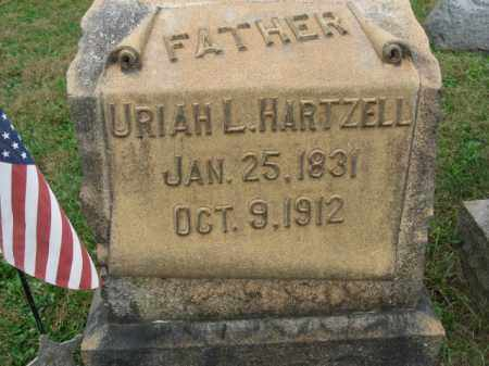 HARTZELL, URIAH L. - Lehigh County, Pennsylvania | URIAH L. HARTZELL - Pennsylvania Gravestone Photos