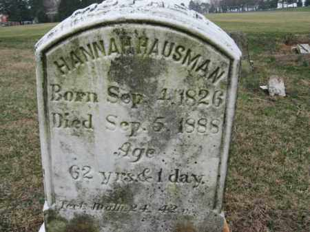 HAUSMAN, HANNAH - Lehigh County, Pennsylvania | HANNAH HAUSMAN - Pennsylvania Gravestone Photos