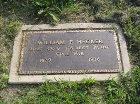 HECKER, WILLIAM F. - Lehigh County, Pennsylvania   WILLIAM F. HECKER - Pennsylvania Gravestone Photos