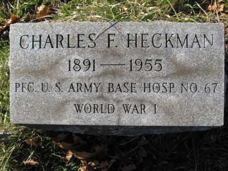 HECKMAN, CHARLES F. - Lehigh County, Pennsylvania   CHARLES F. HECKMAN - Pennsylvania Gravestone Photos