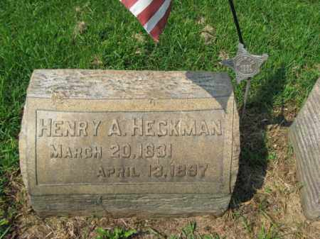 HECKMAN, HENRY A. - Lehigh County, Pennsylvania   HENRY A. HECKMAN - Pennsylvania Gravestone Photos