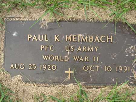 HEIMBACH, PAUL K. - Lehigh County, Pennsylvania   PAUL K. HEIMBACH - Pennsylvania Gravestone Photos